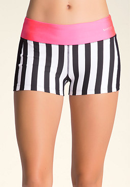 bebe Printed Colorblock Short