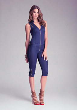 bebe Zippy Logo Jumpsuit