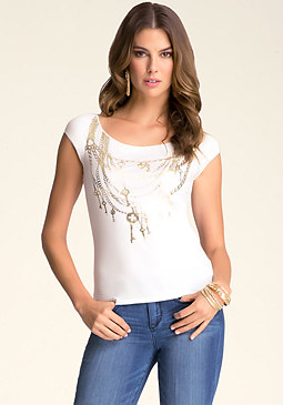 bebe Necklace Tee