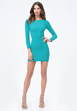 bebe Raglan Bodycon Dress