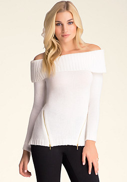 bebe Marilyn Zip Detail Sweater