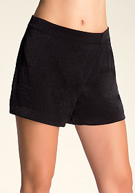 bebe Maggie Asymmetric Shorts