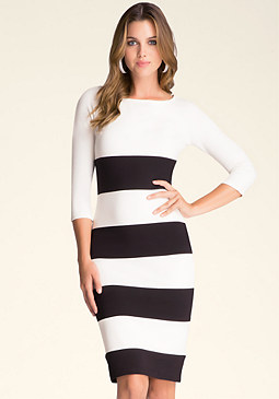 bebe Wide Stripe Dress