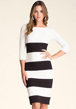 bebe Wide Stripe Dress