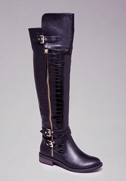 Karter Flat Boots at bebe