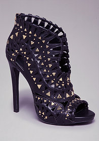 Emerson Laser Cut Booties at bebe