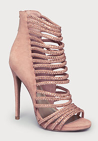 CRYSTAL STRAPPY SANDALS at bebe