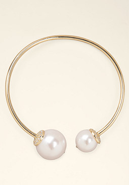 bebe Pearl Collar Necklace