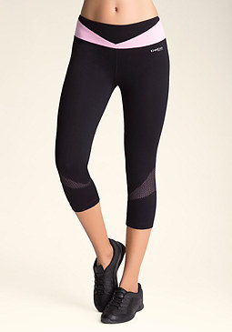 Colorblock Crop Leggings at bebe