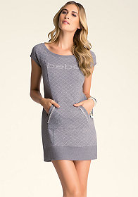 bebe Quilted Boatneck Tunic ���
