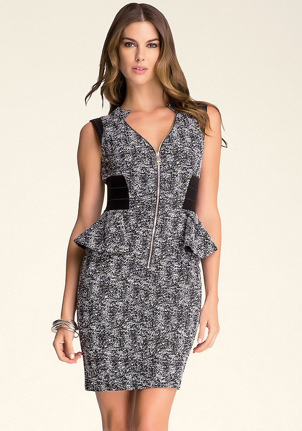 Chloe Tweed Peplum Dress