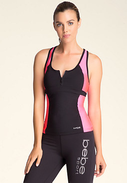 bebe Colorblock 1/2-Zip Racer