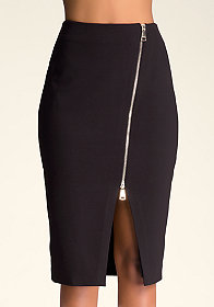 ZO�  2-WAY ZIP FRONT SKIRT at bebe