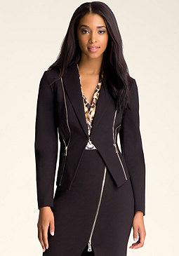 bebe Zo� Zipper Detail Jacket