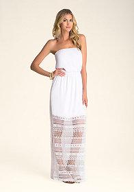 bebe Lace Contrast Maxi Dress