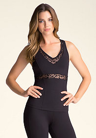 Crossover V Neck Tank at bebe