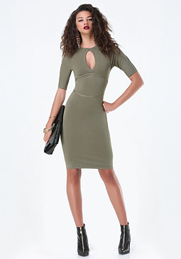 bebe Cutout Sweater Dress