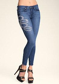 bebe Big bebe Logo Skinny Jeans