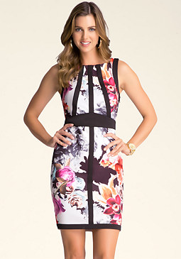 bebe Border Detail Dress
