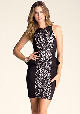 bebe Briana Lace Midi Dress