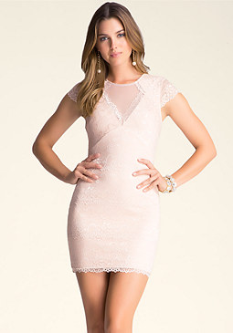 bebe Lace Banded Dress