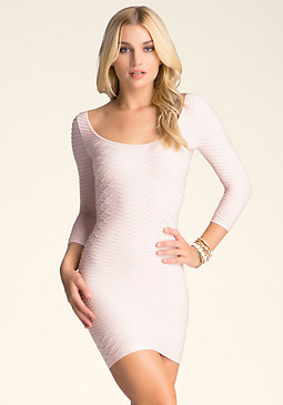 bebe Lucille Textured Dress