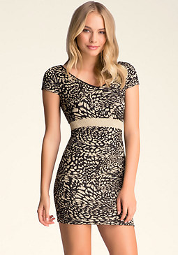 bebe Double V-Neck Dress