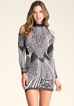 bebe Monroe Cold Shoulder Dress