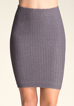 bebe Diamond Metallic Skirt