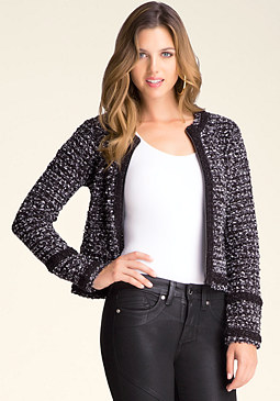 bebe Boucl� Zip Jacket