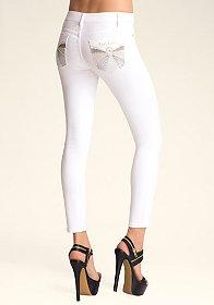 bebe Rhinestone Skinny Jeans