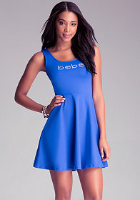 Fit & Flare Logo Dress at bebe