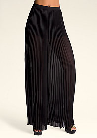 bebe Pleat Wide Leg Pants