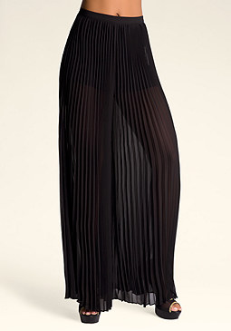 bebe Pleated Wide Leg Pants