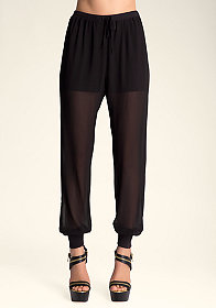 bebe Ribbed Casual Pants