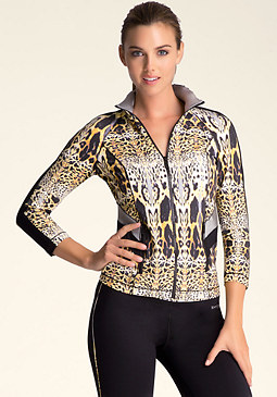 bebe Print Funnel Jacket