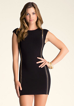 bebe Zip Detail Dress