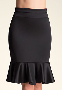 Tiana Peplum Skirt at bebe