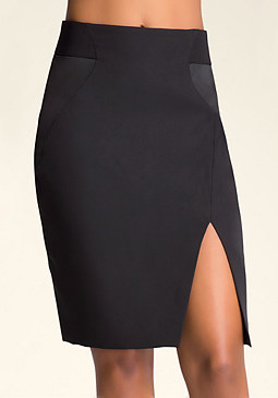 bebe Katrina Slit Pencil Skirt