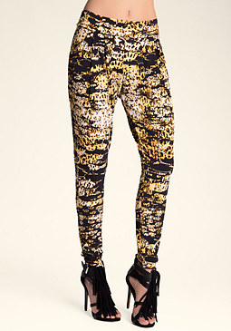 bebe Bobcat Bombshell Leggings