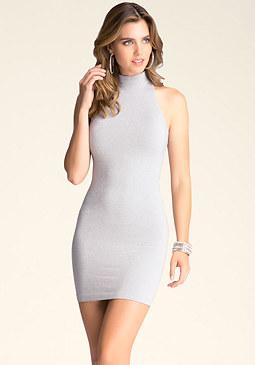 bebe Racerback Shimmer Dress