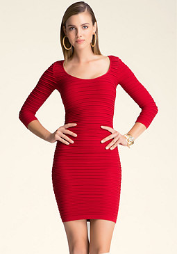 bebe Nilani Textured Dress