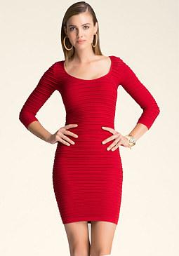bebe Nilani Textured Dress