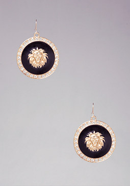 bebe Lion Drop Earrings