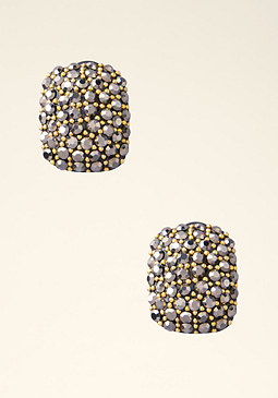 bebe Square Stone Stud Earrings