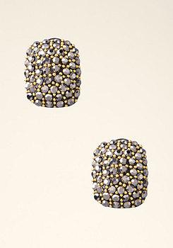 bebe Square Stone Stud Earrings