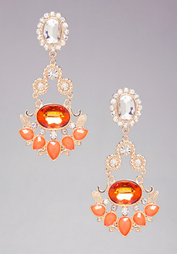 ROMANTIC CRYSTAL EARRINGS at bebe