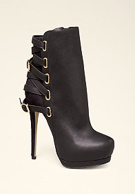bebe Edyta Back Strap Booties