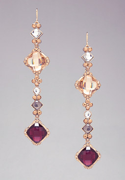 bebe Diamond Linear Earrings
