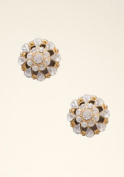bebe Crystal Dome Stud Earrings